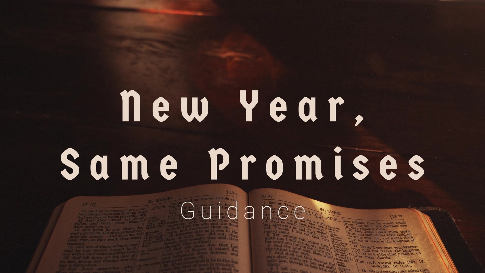 New Year, Same Promises: Guidance